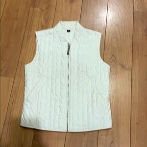 Off white quilted MaxMara vest